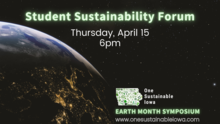 Student Sustainability Forum promotional image